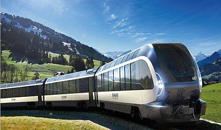 Un train extraordinaire conçu par Pininfarina : le Goldenpass Express, un train panoramique de la Compagnie ..