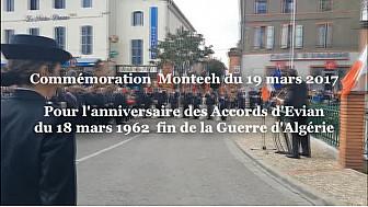 Montech: Commémoration 55ème anniversaire de la Fin de la Guerre d'Algérie