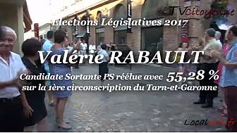 Valérie RABAULT réélue Députée sur la 1ère circonscription du Tarn-et-Garonne avec 55,28% @Valerie_Rabault @tvcitoyenne #TarnEtGaronne #Législatives2017