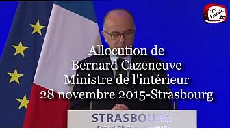 Bernard Cazeneuve, Ministre de l'intérieur, s'est déplacé à Strasbourg #TvLocale-fr