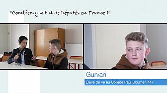 Gurvan, 13 ans, rencontre la Députée Sarah El Haîry