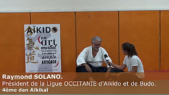 Janna - 14 ans, découvre l'Aikido et réalise l'interview de Raymond SOLANO. Président de la Ligue OCCITANIE d'Aïkido et de Budo.