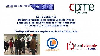 @CPMEoccitanie - des Jeunes du collège Jean de Prades de Castelsarrasin visitent le Centre Leclerc de Castelsarrasin @LeclercBonPlan