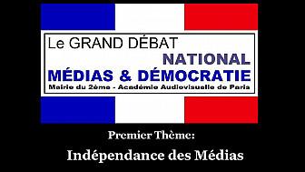 Indépendance des Médias:  Grand Débat Médias et Démocratie organisée par l'Académie Audiovisuelle de Paris avec la Mairie de Paris 2ème arrondissement, animé par Richard Joffo @JacquesBo