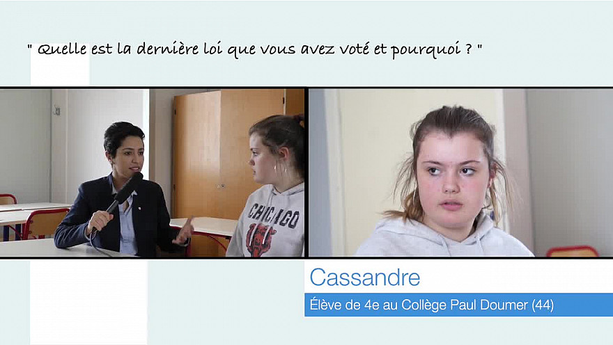 Cassandre, 13 ans, rencontre la Députée Sarah El Haîry