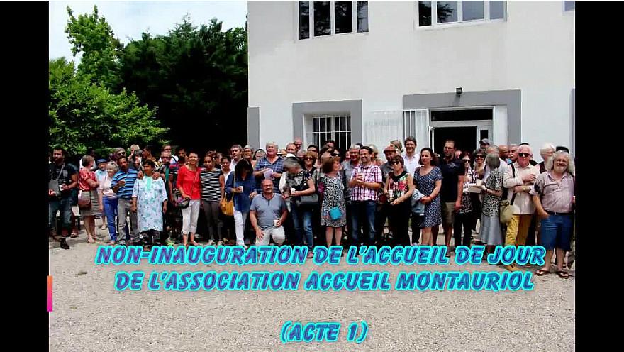 Une centaine de personnes a participé à la non inauguration des nouveaux locaux de l'accueil MONTAURIOL le 25 juin 2019 à 12H00