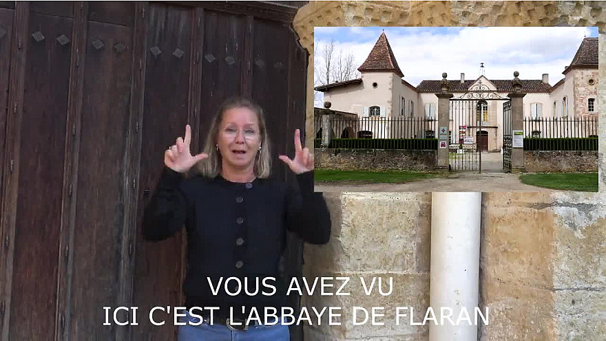 Abbaye de Flaran en LSF