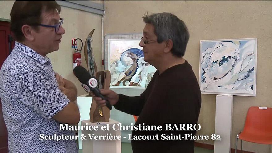 Maurice et Christiane BARRO, un Scuplteur, une Verrière et Peintre, Création à 4 Mains artistes de Lacourt Saint-Pierre en Tarn-et-Garonne