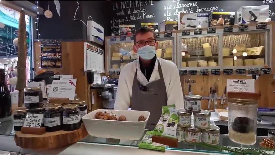 Les commerces de Montauban : la fromagerie Crémerie 'L'Affine Bouche' rue du Greffe