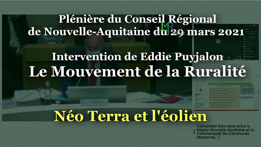 Intervention du Mouvement de la Ruralité qui vote CONTRE Néo Terra, le STRADDET et le budget du Conseil Régional de Nouvelle Aquitaine.  @EddiePuyjalon @LeMouvRuralite @LMR_NAquitaine