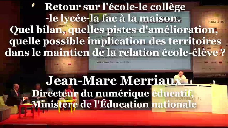Jean-Marc Merriaux, Directeur du numérique éducatif, Ministère de l'Éducation nationale Ruralitic 2020 @cantalauvergne @juliette_jarry @auvergnerhalpes @MTN_cote  @jmmer @brunofaure @jmblanquer