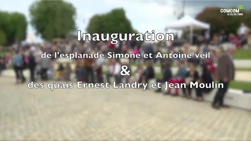 Patrimoine: Inauguration à Sens des quais et de l'esplanade Simone et Antoine Veil.@sens