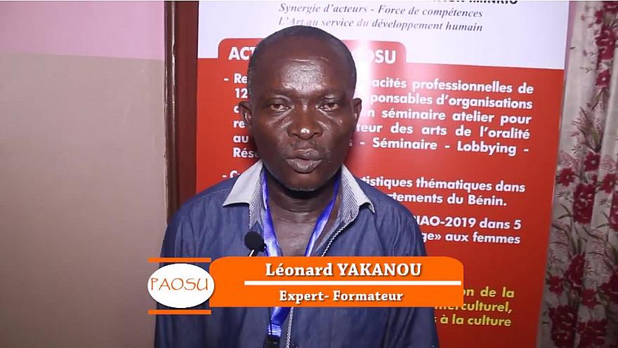 Interview de M.Léonard YAKANOU réalisée au Bénin par Hosdadafilms dans le cadre du Projet des Arts de l'Oralité et des Scènes Urbaines
