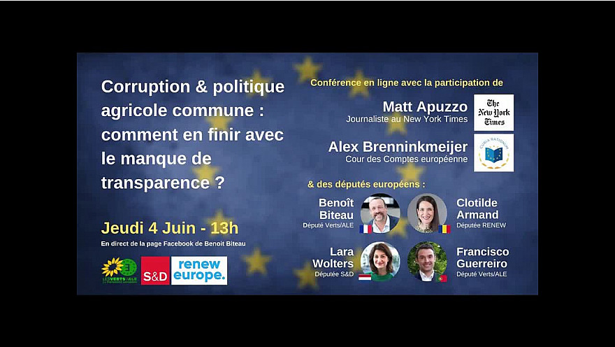 REPLAY 'Corruption & aides PAC : en finir avec le manque de transparence ?' @BenoitBiteau @clotilde_armand @BrenninkmeijerA @FGuerreiroMEP @mattapuzzo @larawoltersEU @AmeliePoinssot