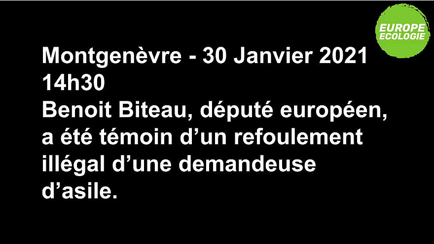@BenoitBiteau : Une demandeuse d'asile a été refoulée illégalement à la frontière de Montgenèvre ! La @Prefet05 doit s'expliquer ! #MaraudesSolidaires #immigration